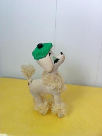 Cream Dakin Poodle 1960s